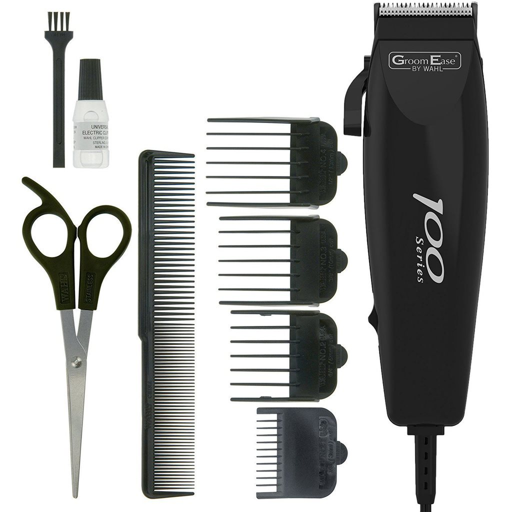 Wahl 100 Series Groomease Hair Clipper Corded M 321331558 Kp Classic 1 Usa Men Shaver Trimmer Kit 9 Piece Set
