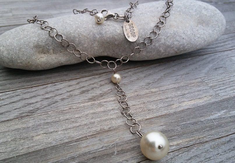 Scoop silverhalsband 925 med pärlor (284660582) ᐈ Köp på Tradera 584cee2074e54
