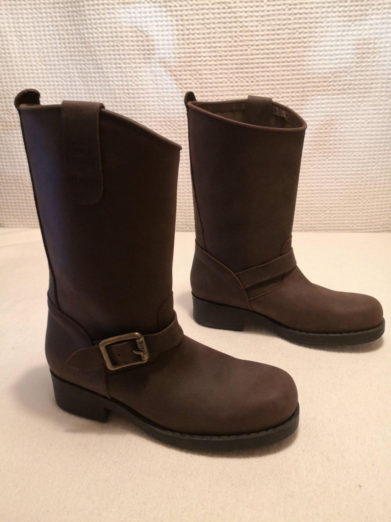 Urban Project bruna skinn MC boots stövlar str 40 (415947363