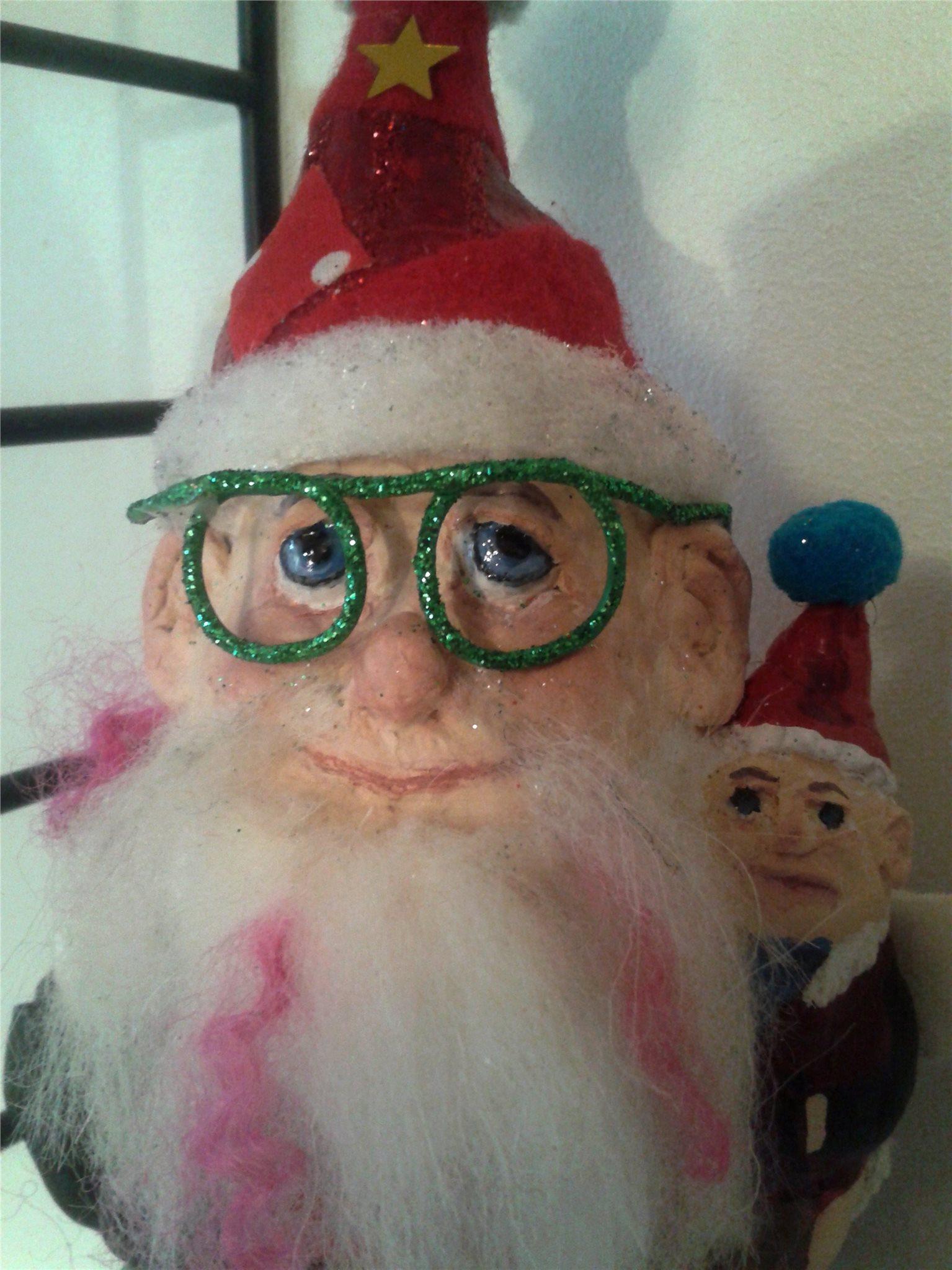 Tomte med gröna glitter glasögon e99365752a1d2