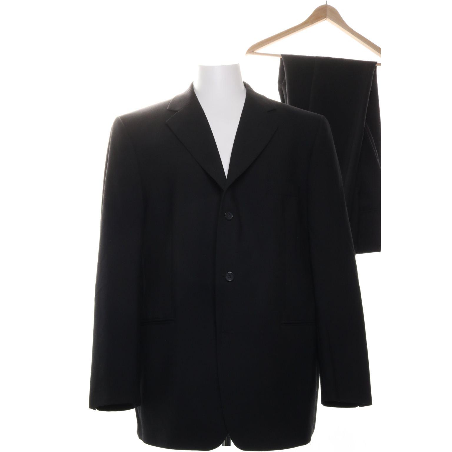 Batistini, Kostym, Strl: Xl, Svart, Ull/Polyester