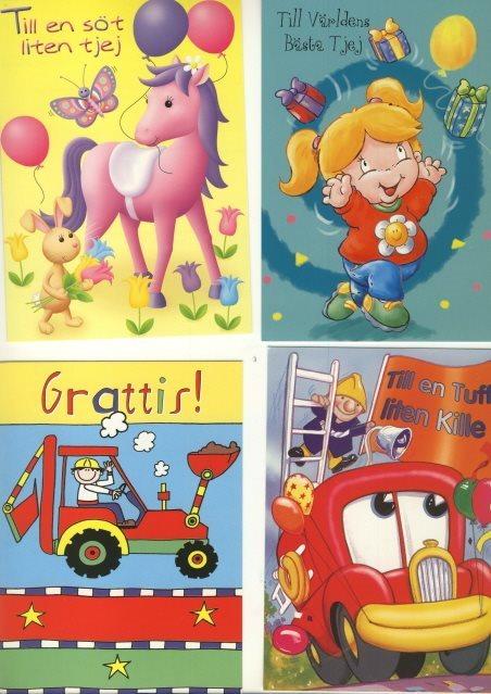 grattis barn 10 OLIKA VYKORT   GRATTIS till BARN både till P.. (314132417) ᐈ  grattis barn