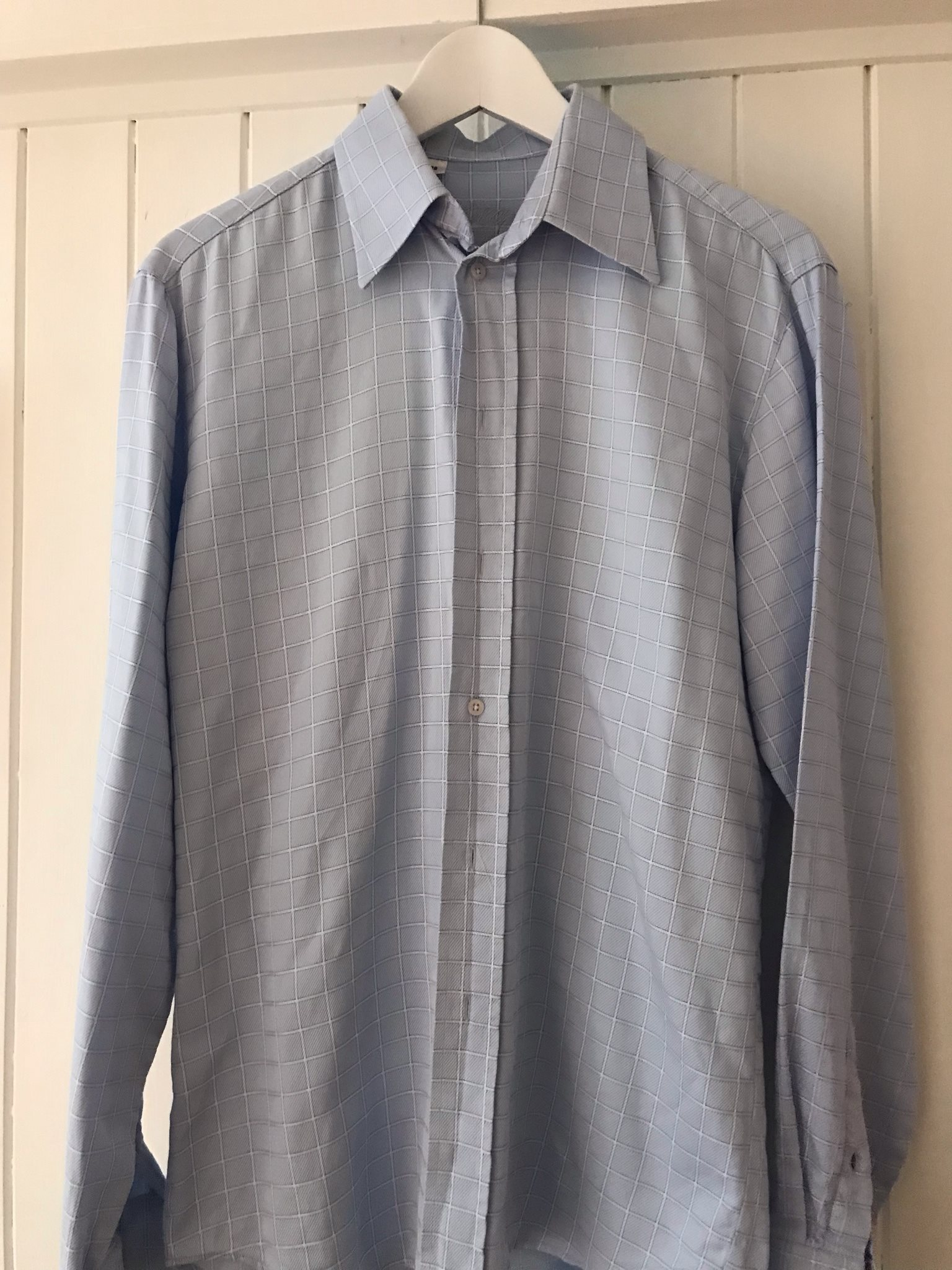 Bomullsskjorta skjorta i bomull från OSCAR stor.. (327842532) ᐈ Köp ... 9f239ee52bf78