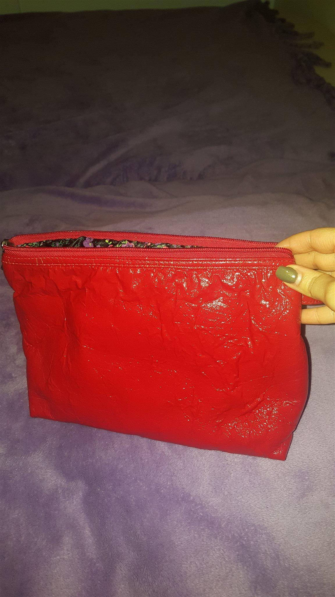 Sminkväska röd skinimitation antique (337570990) ᐈ Köp på Tradera fbf1a756d77e3