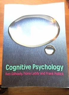 Cognitive Cognitive Cognitive Psychology av K. Gilhooly. Kurslitteratur. 8847ce