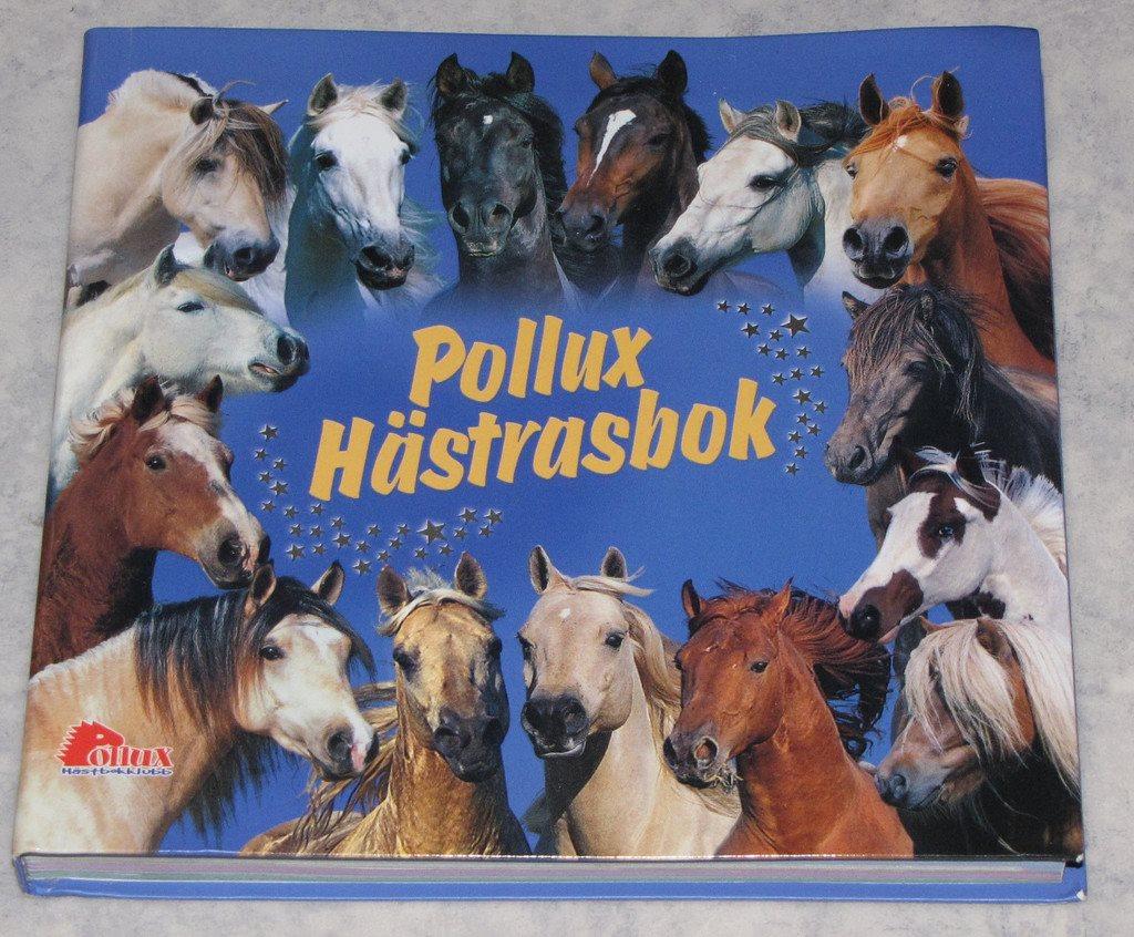 Hästrasbok Pollux hästbokklubb hästraser häst ras fakta bok fin present rid tjej
