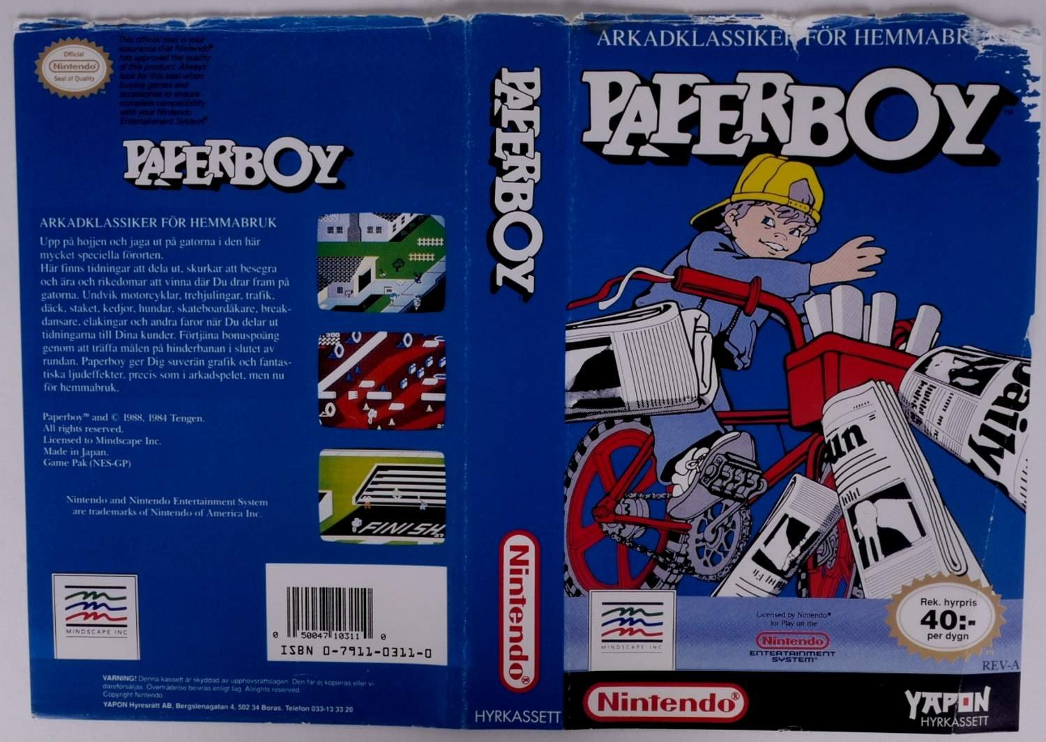 Paperboy (Original YAPON Rental Cover Paper) -