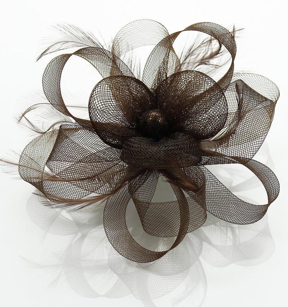 Dam Mössa Flower Feather Fascinator Fascinator Fascinator Nytt Kvinnors Bröllopsaft Fest 49e83a
