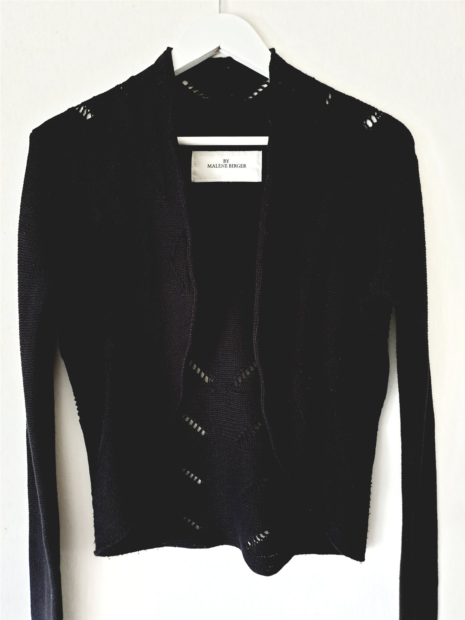 BY MALENE BIRGER svart kofta BOMULL cardigan medium