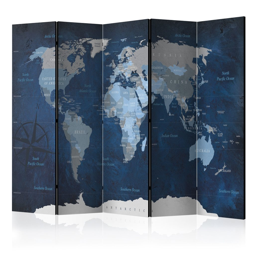 Rumsavdelare - Dark Blue World Room Dividers 225x172