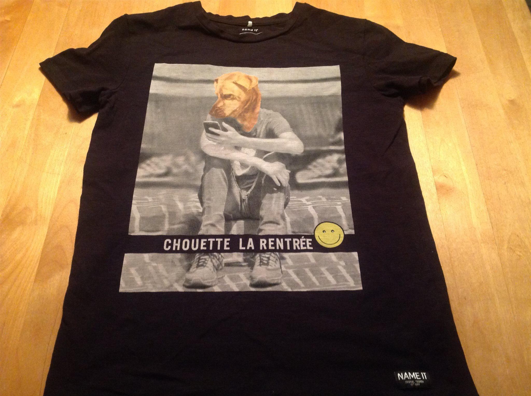 NAME IT T-shirt svart med tufft tryck! 146 152 (331617765) ᐈ Köp på ... 368f7b68a52d1