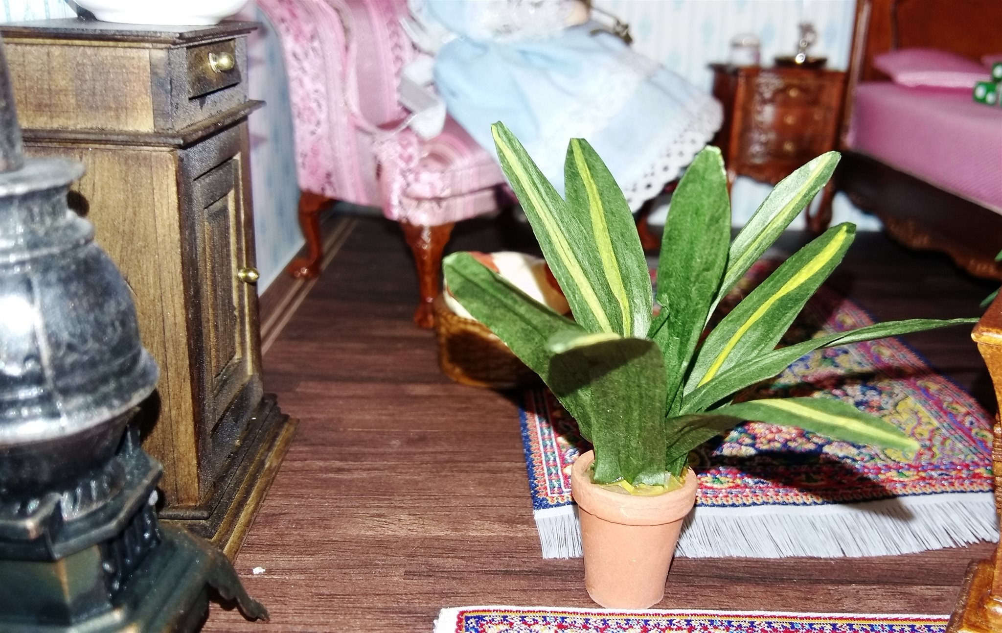 grön växt långa blad