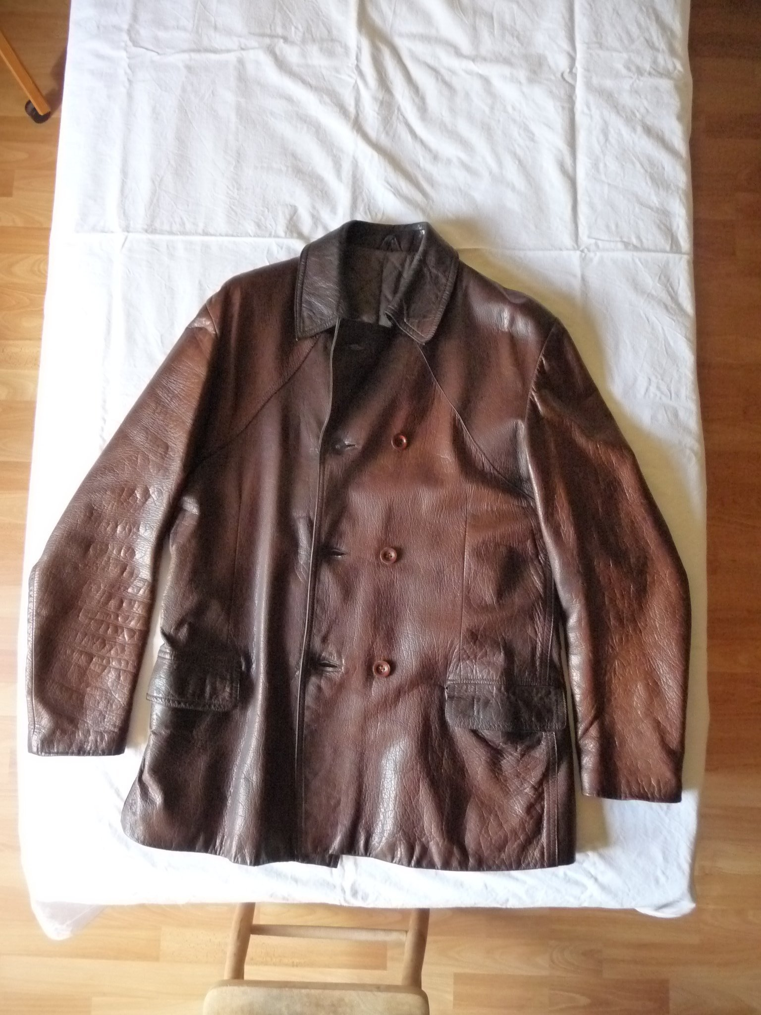 Vintage skinjacka stl 52 med nytt foder. (421350418) ᐈ Köp