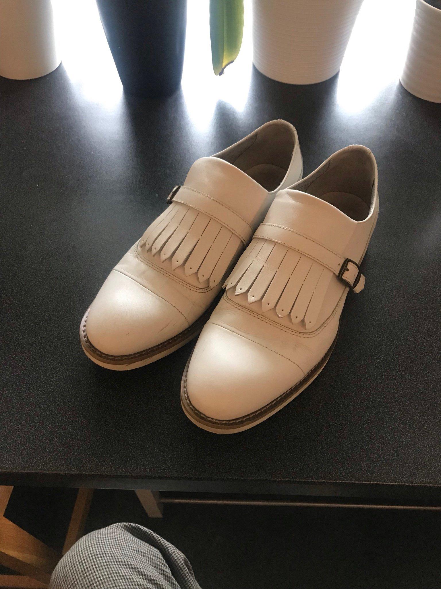 56b7b3b62be Vita läder vagabond skor strl 39 (349284634) ᐈ Köp på Tradera