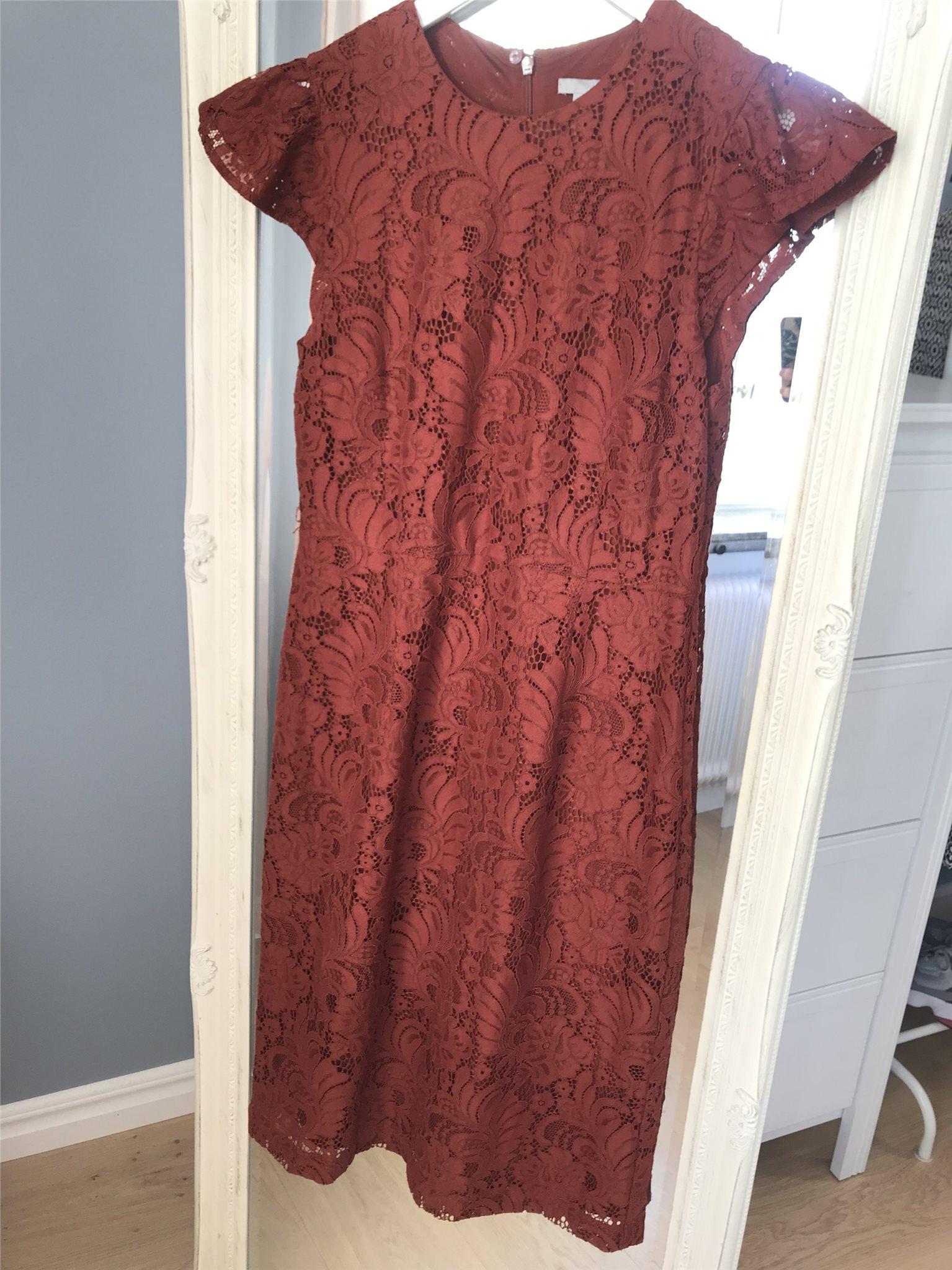 röd klänning spets