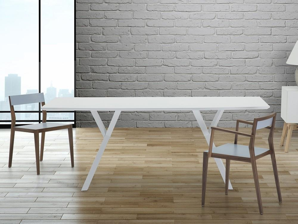 Design Koksbord : Matbord vit  koksbord  matsalsbord  LISALA po Traderacom