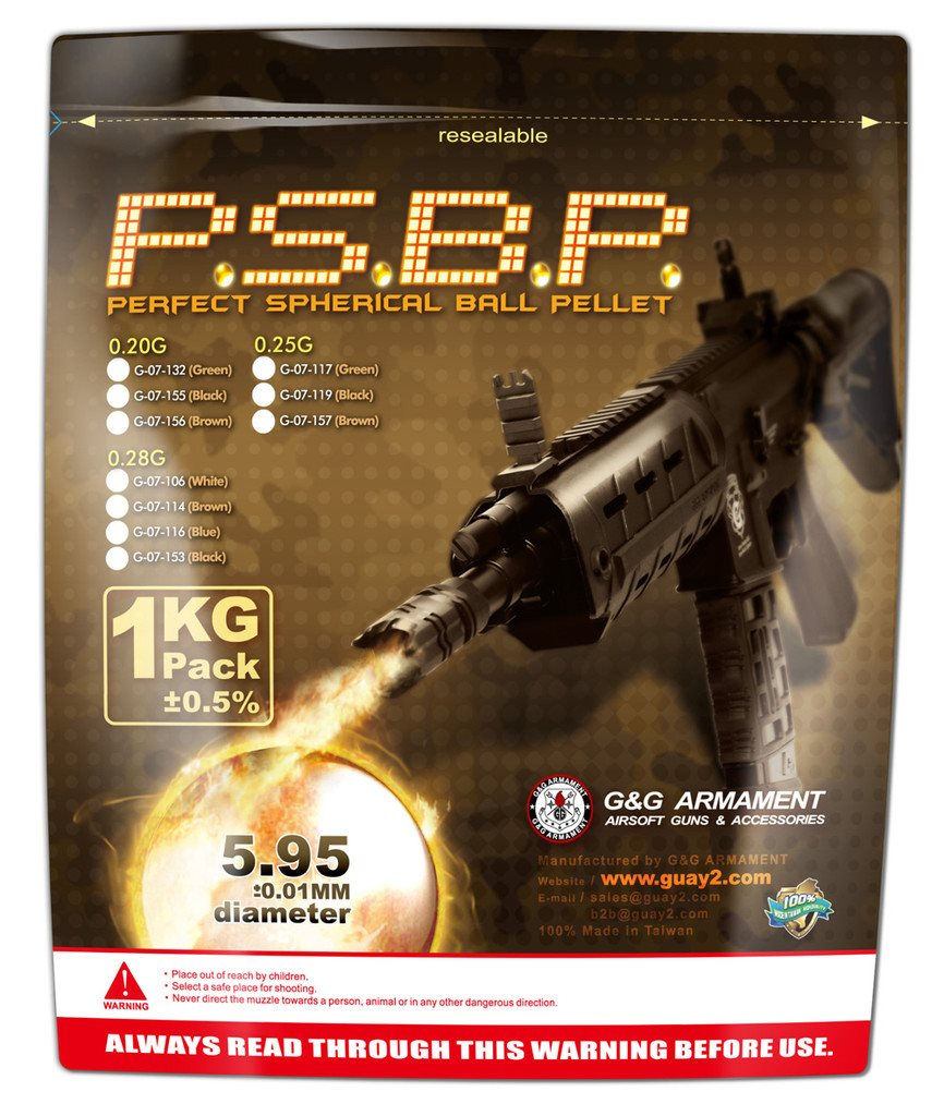 G&G PERFECT BB 0.20G (GREEN) 1KG/PACK (5000R)