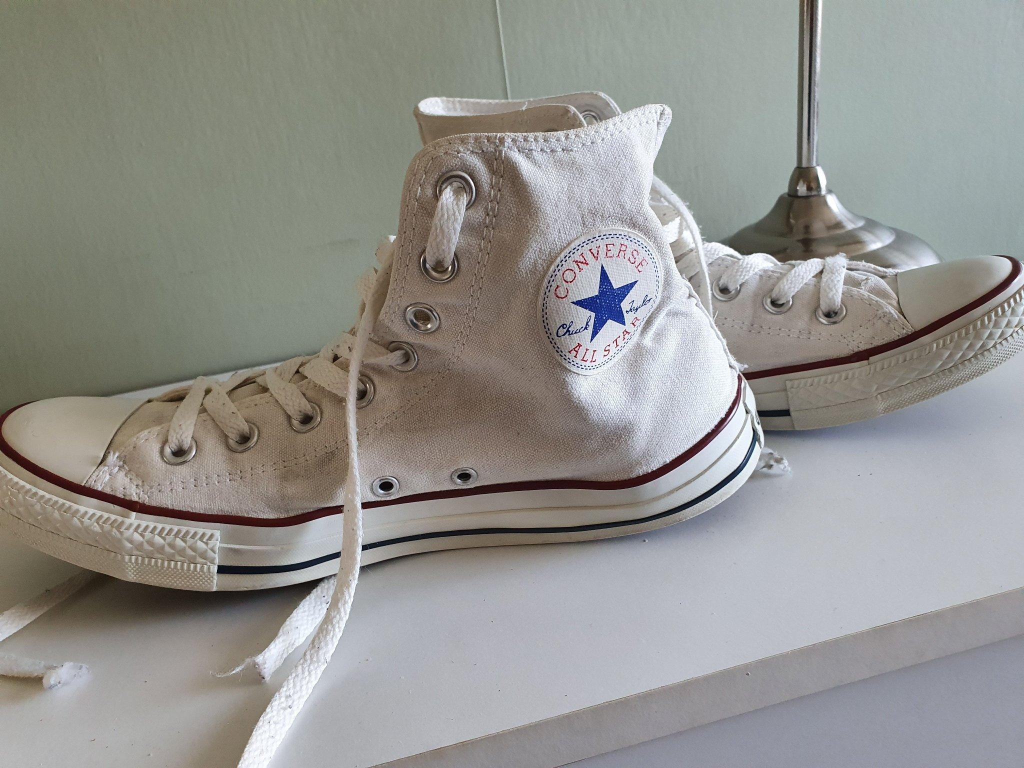 Converse vita skor sneakers storlek 42,5 43 (395676813
