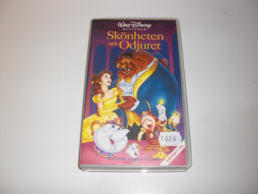 sk nheten och odjuret vhs p disneyfilmer p vhs. Black Bedroom Furniture Sets. Home Design Ideas