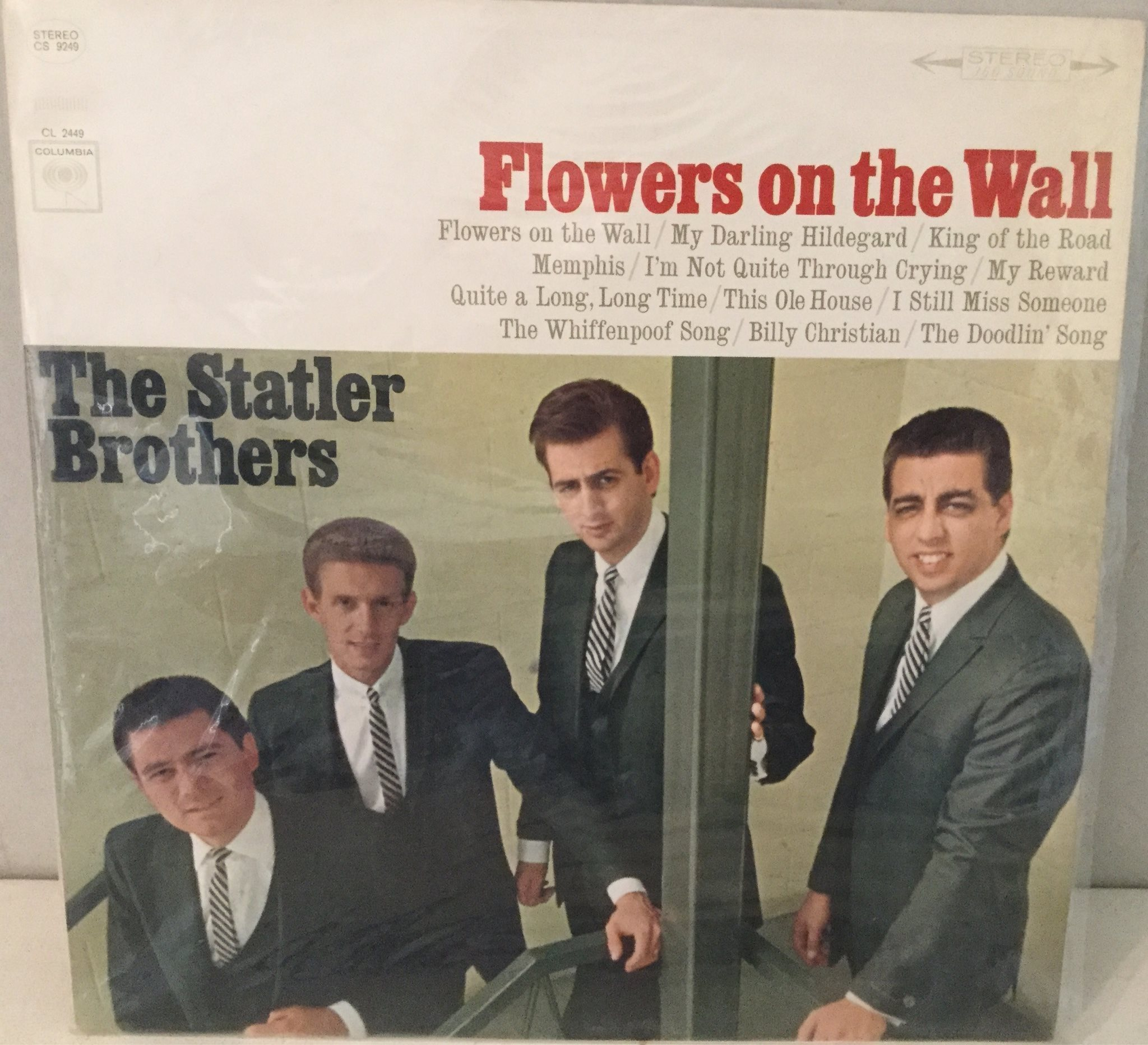 "The Statler Brothers "" Flowers on the Wall"" LP vinyl på Tradera"