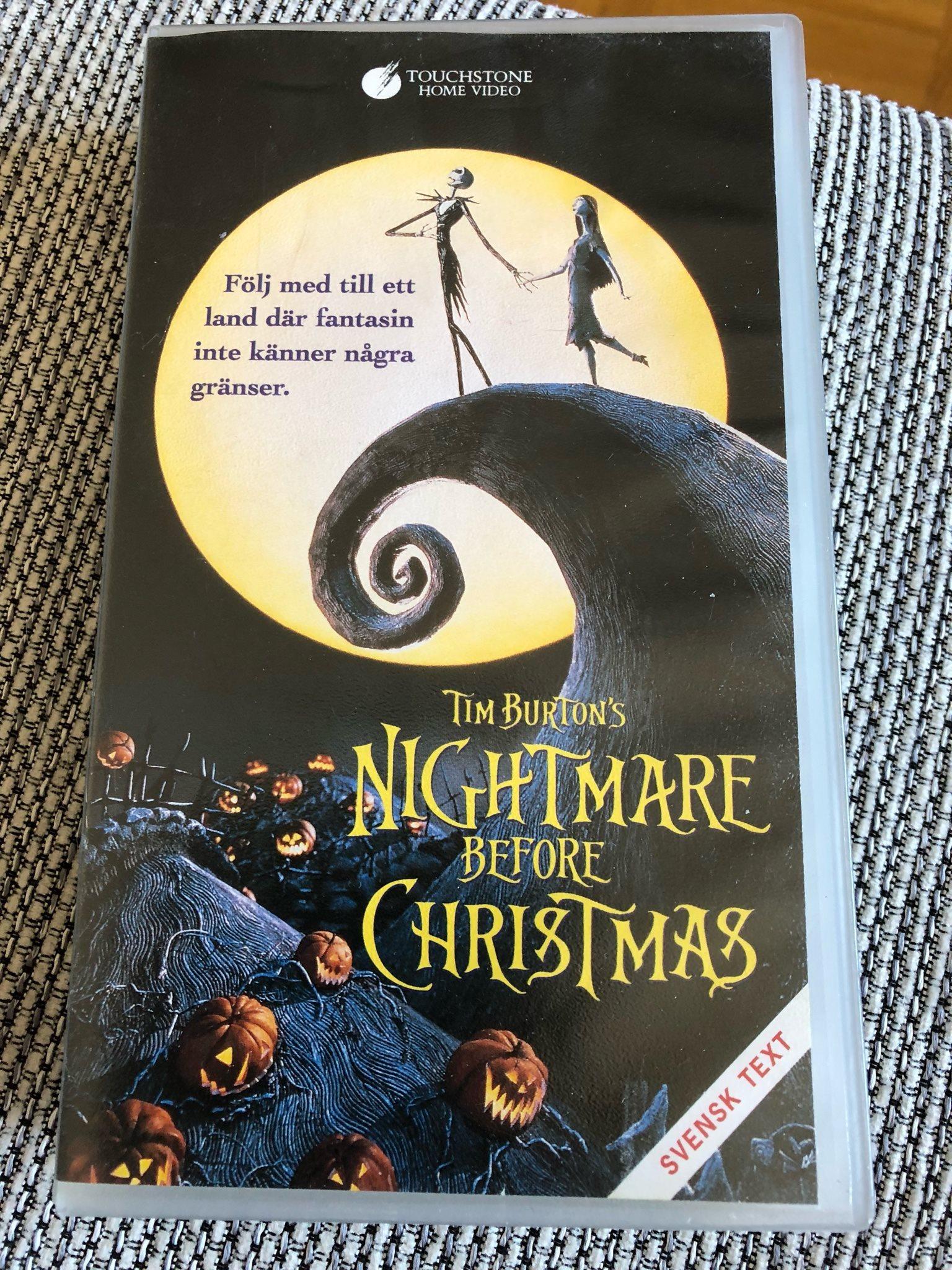 VHS Nightmare before christmas Tim Burton (323977943) ᐈ Köp på Tradera