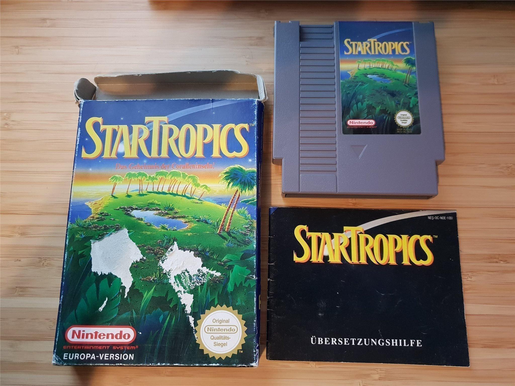 Startropics nintendo spel komplett