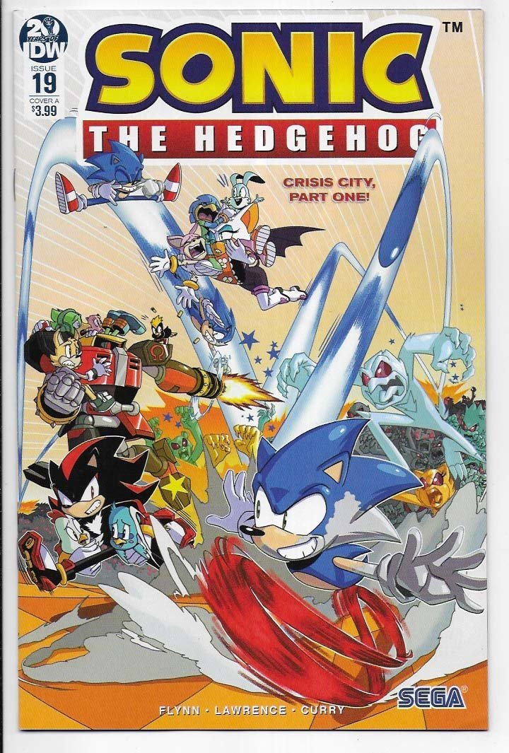 Sonic The Hedgehog # 19 Cover A NM Ny Import