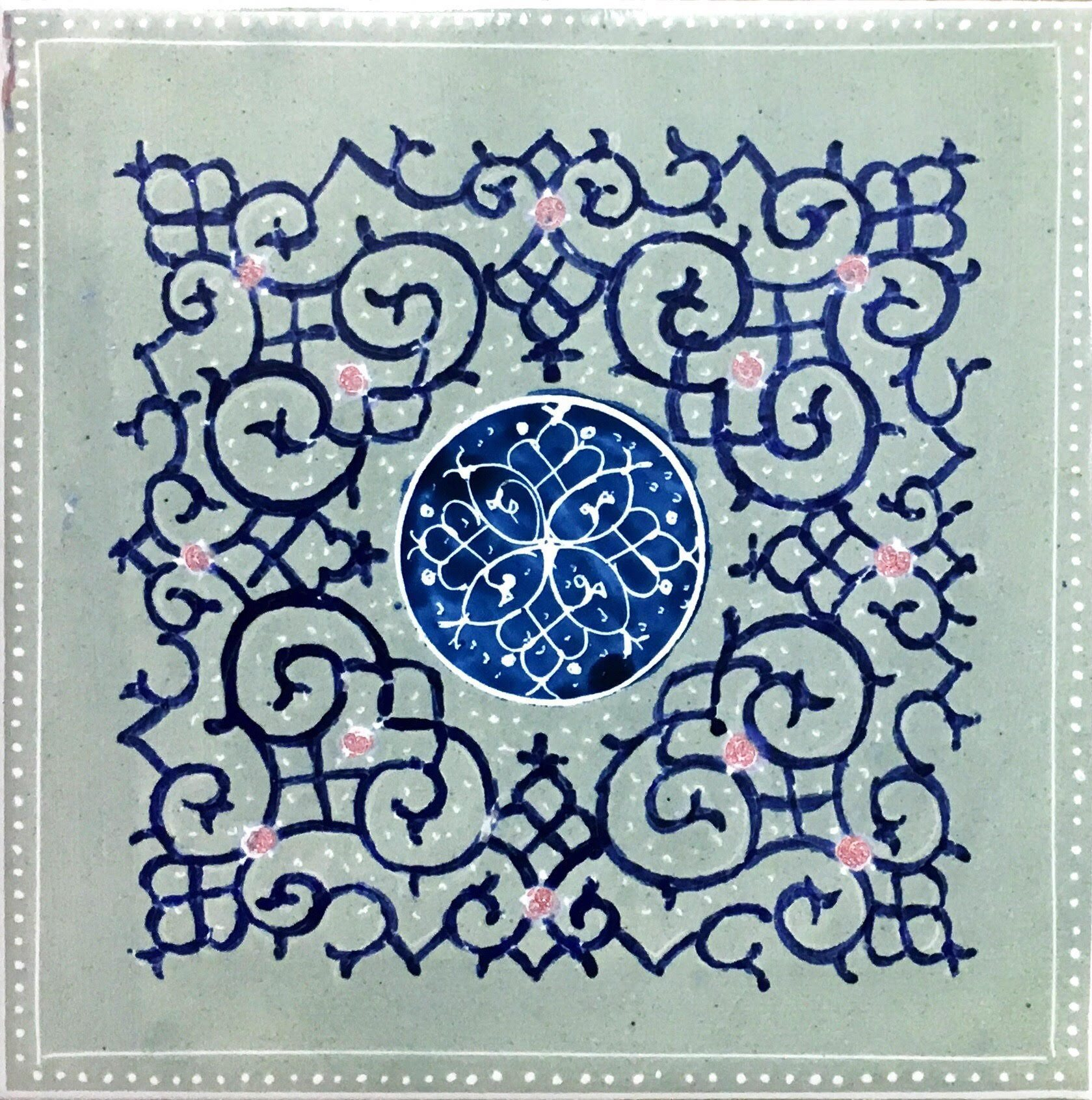 Handmade ceramic (tile)