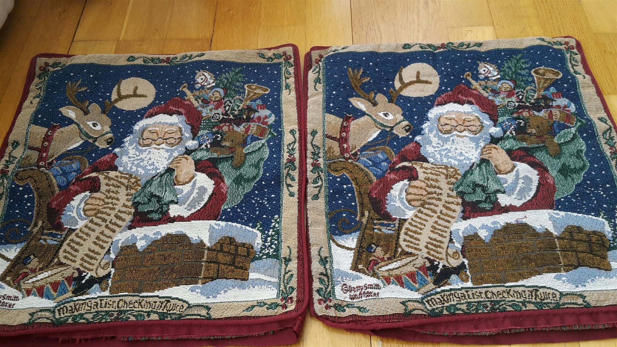 prydnadskuddar med julmotiv