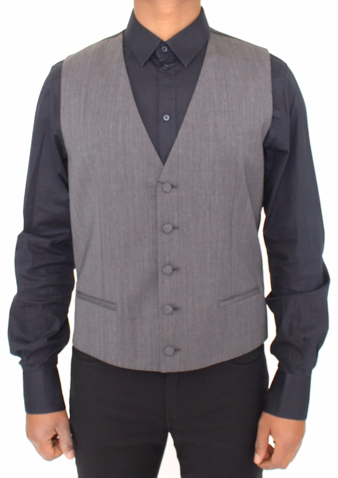 Dolce & Gabbana - Gray Wool Stretch Dress Vest Jacket Blazer