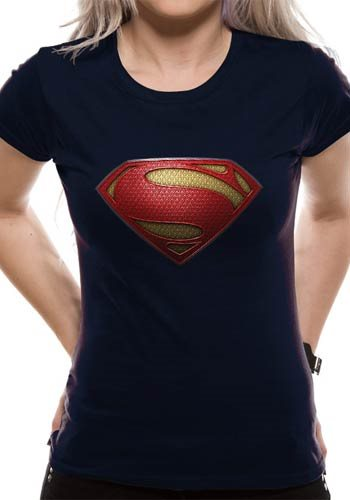 SUPERMAN MAN OF STEEL - TEXTURED LOGO (FITTED) - Large