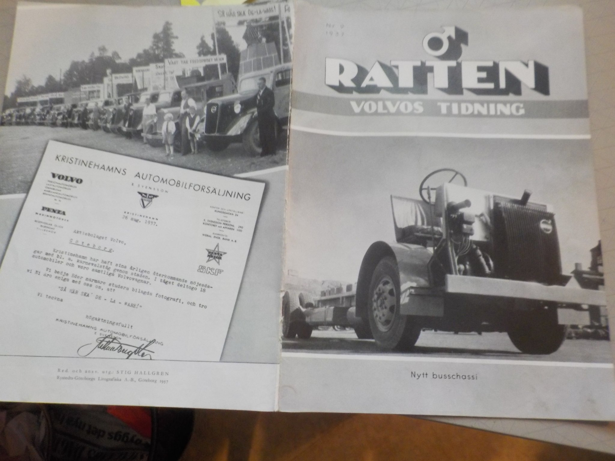Ratten Volvo 1937/9 Buss Chassi Bofors Extra