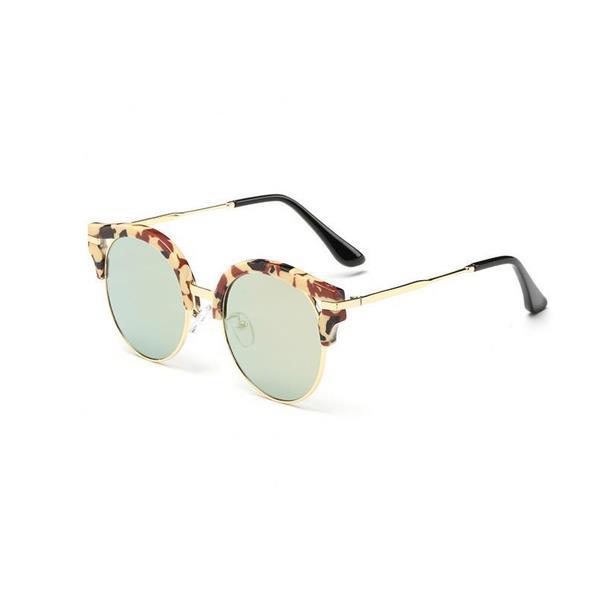 Solglasögon - Circle Look (Gul med Leopard) (262475984) ᐈ Braoha på ... f70fde5c818b8