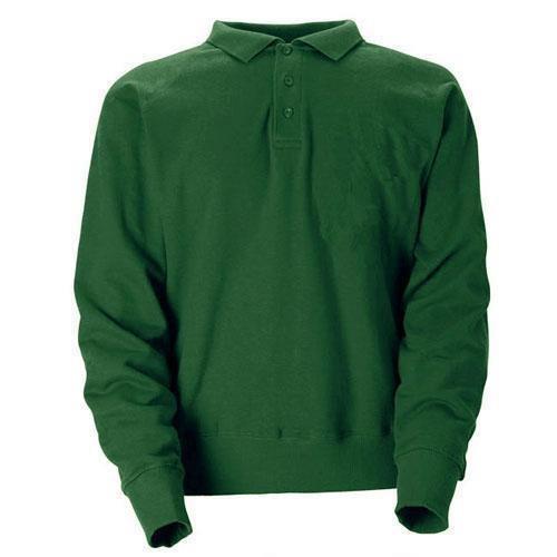 Sweatshirt krage och tre knappar, grön storlek  XXL