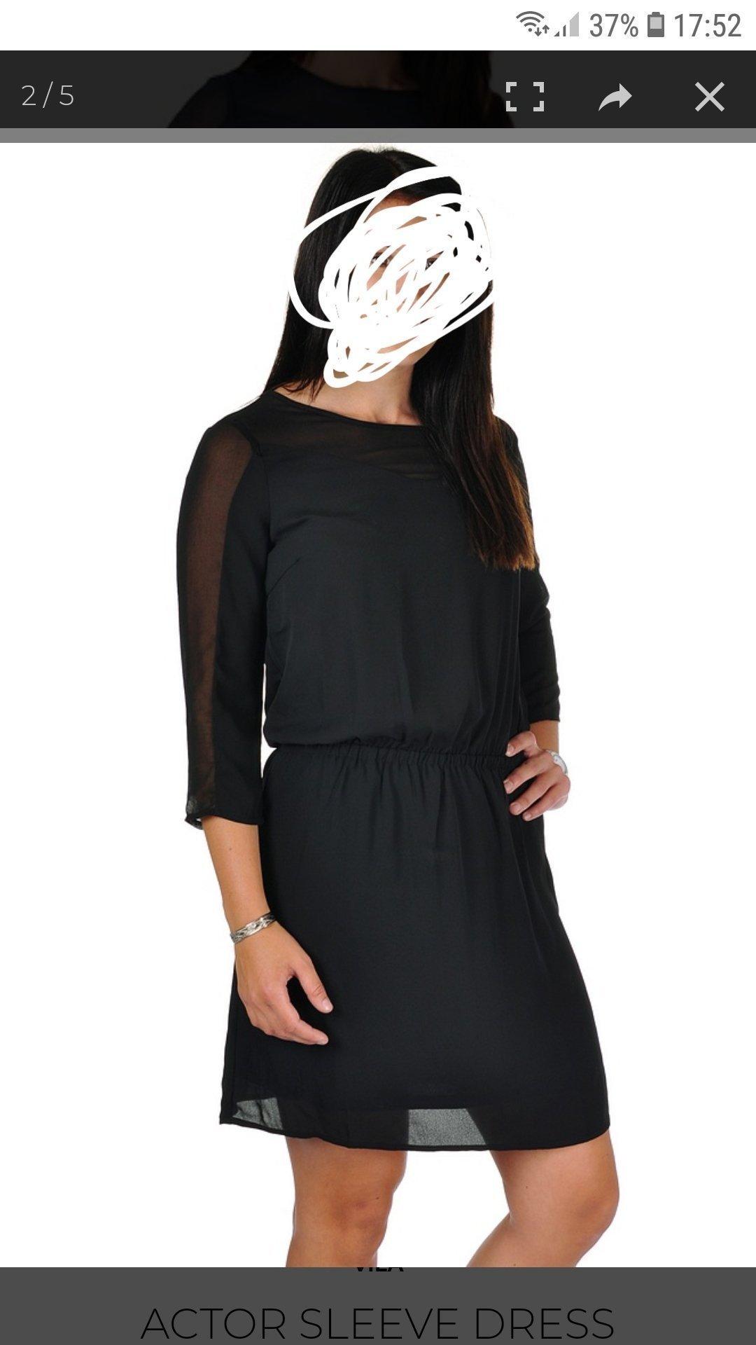 Ny oanvänd svart klänning från Nelly alla prislappar kvar