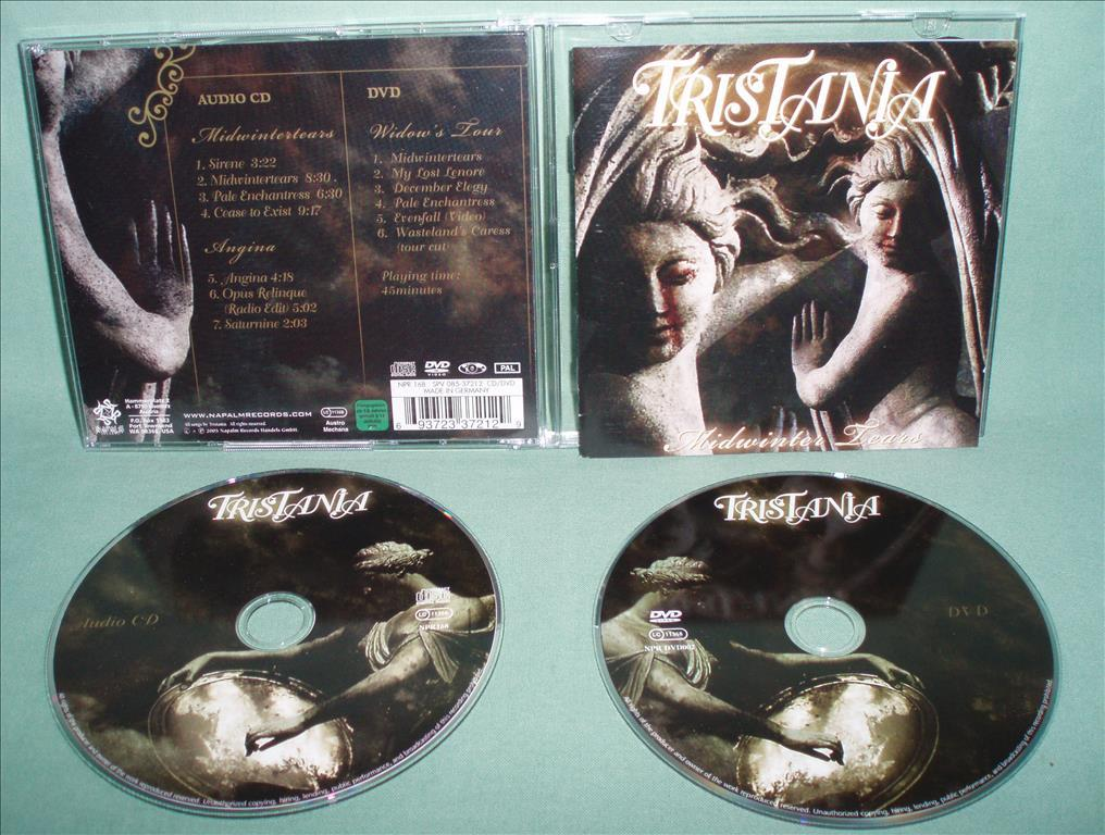 TRISTANIA - Midwinter tears , CD+DVD 2005 , ,