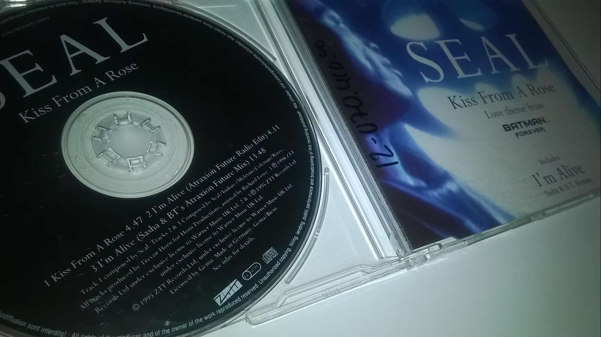 Seal ?- Kiss From A Rose / I'm Alive, CD, Single, rare!