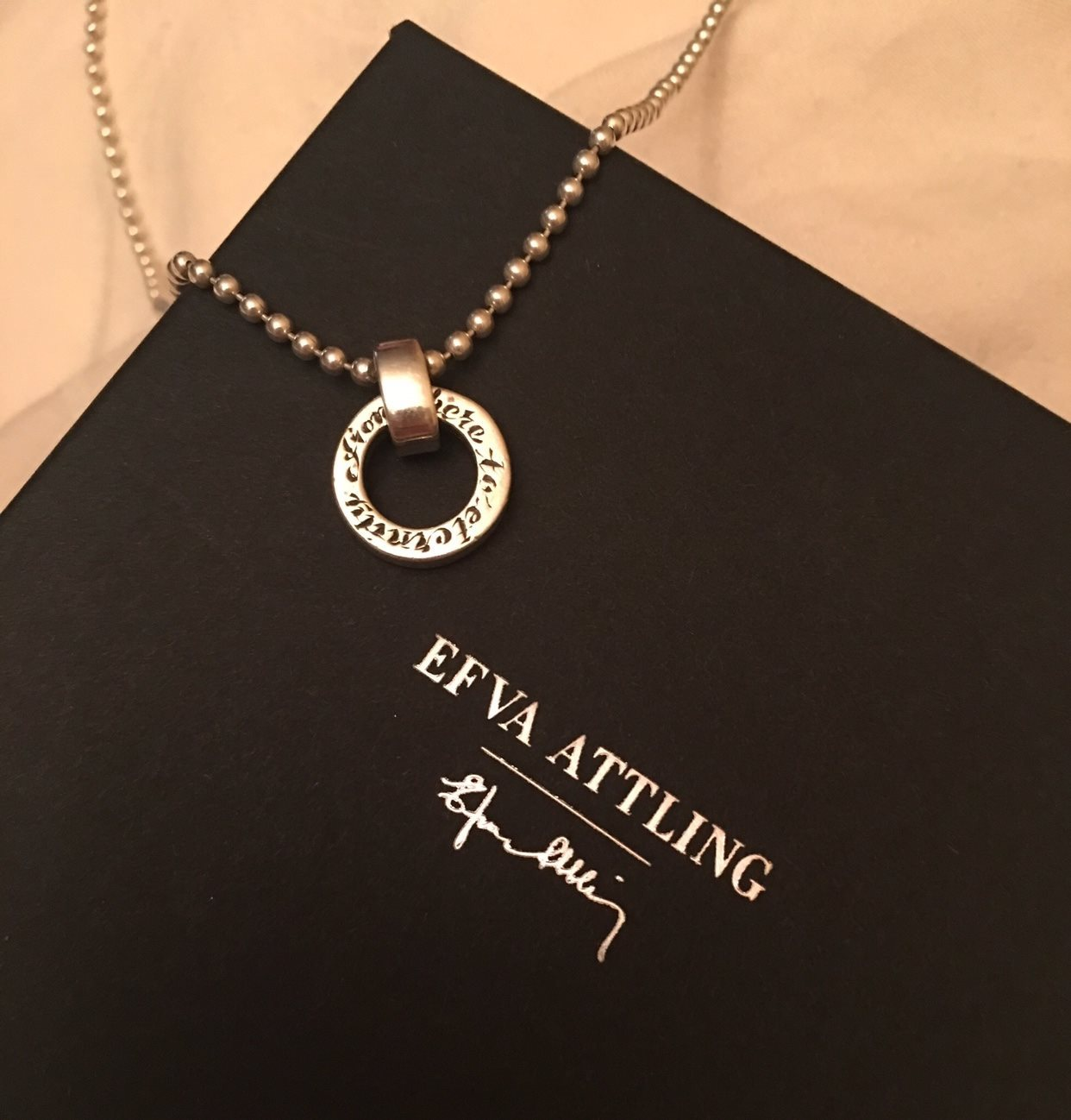 "Efva Attling ""Ring Around From here to Eternity"" halsband i silver. Nypris  b773993c090d1"