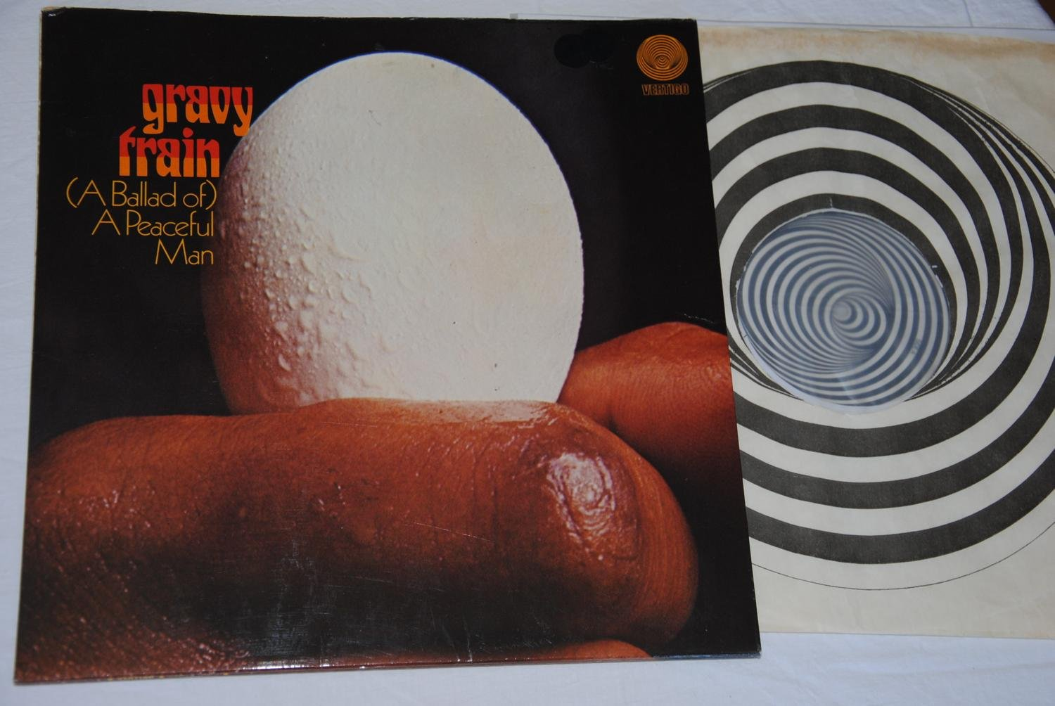 GRAVY TRAIN - (Ballad of) A Peaceful Man - VERTIGO swirl - ultra rare UK orig LP