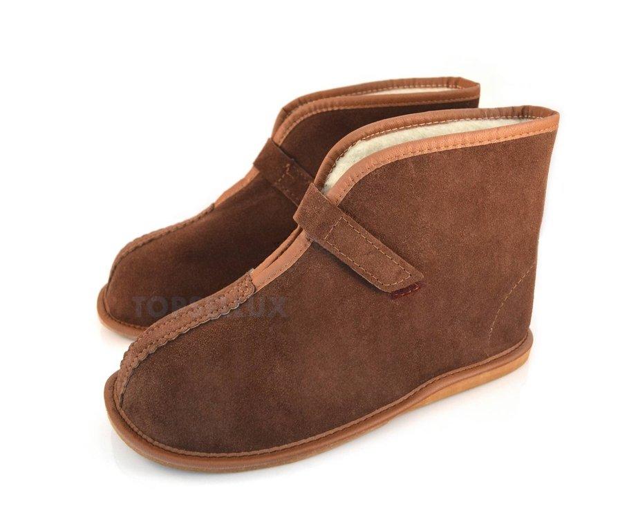 Ull & läder snöstövlar för kvinnor