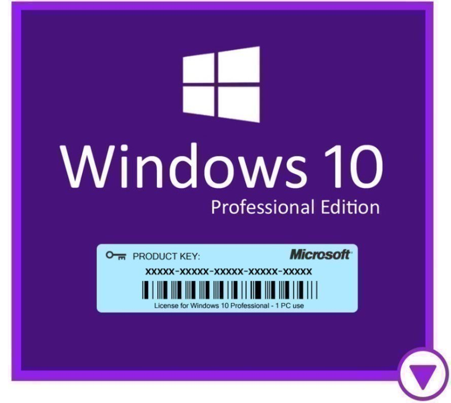 Windows 10 Professional Retail Fullversion | 32/64-bit SVE/ENG för PC | Genuin