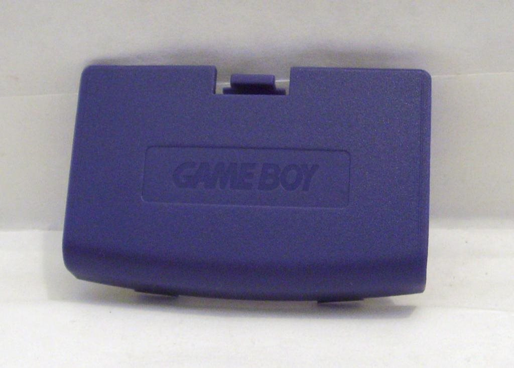 GBA batterilucka, lila / blå game boy advance