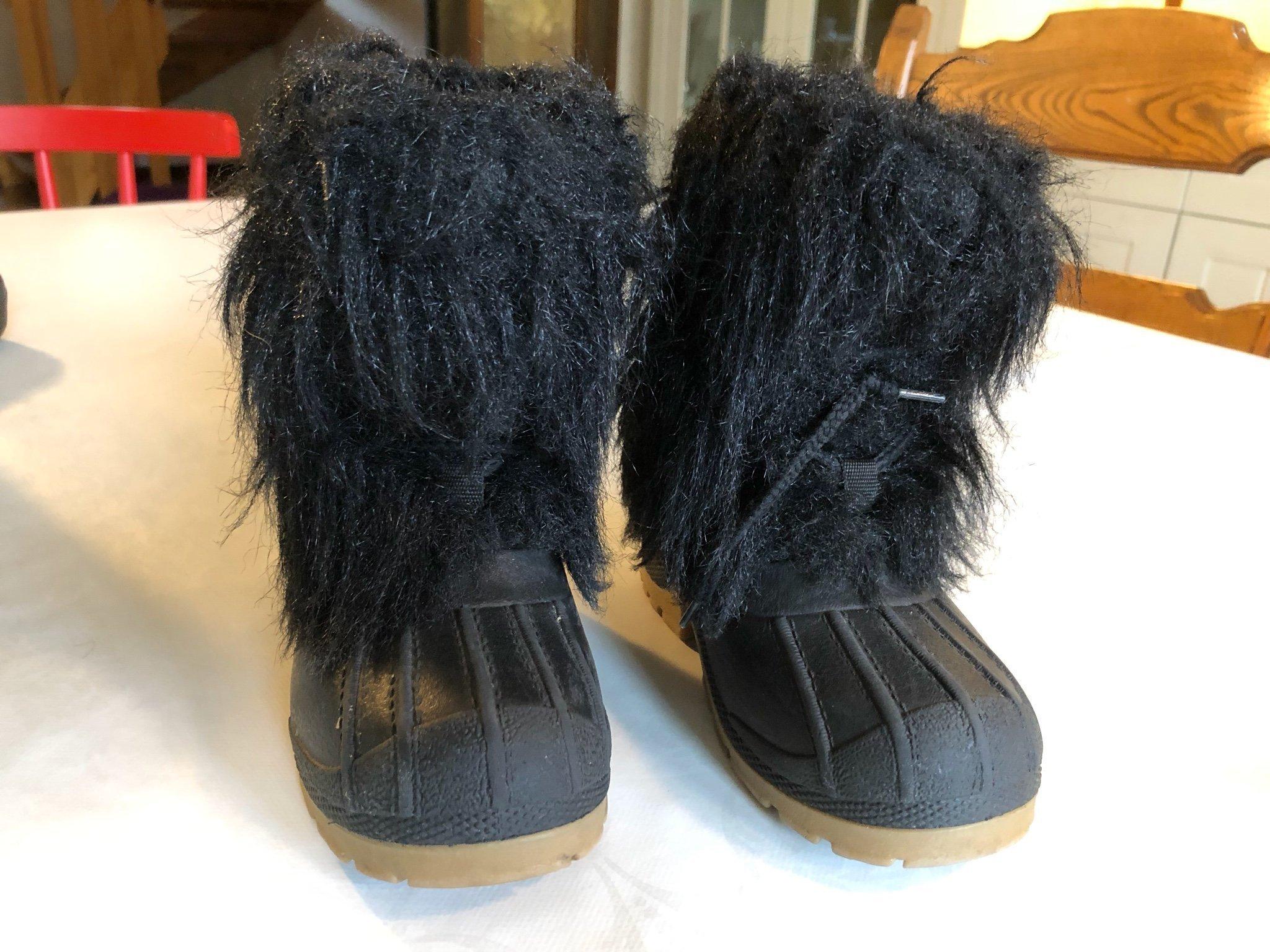 Söta Italienska vinterskor svarta med lurv stl .. (390814656