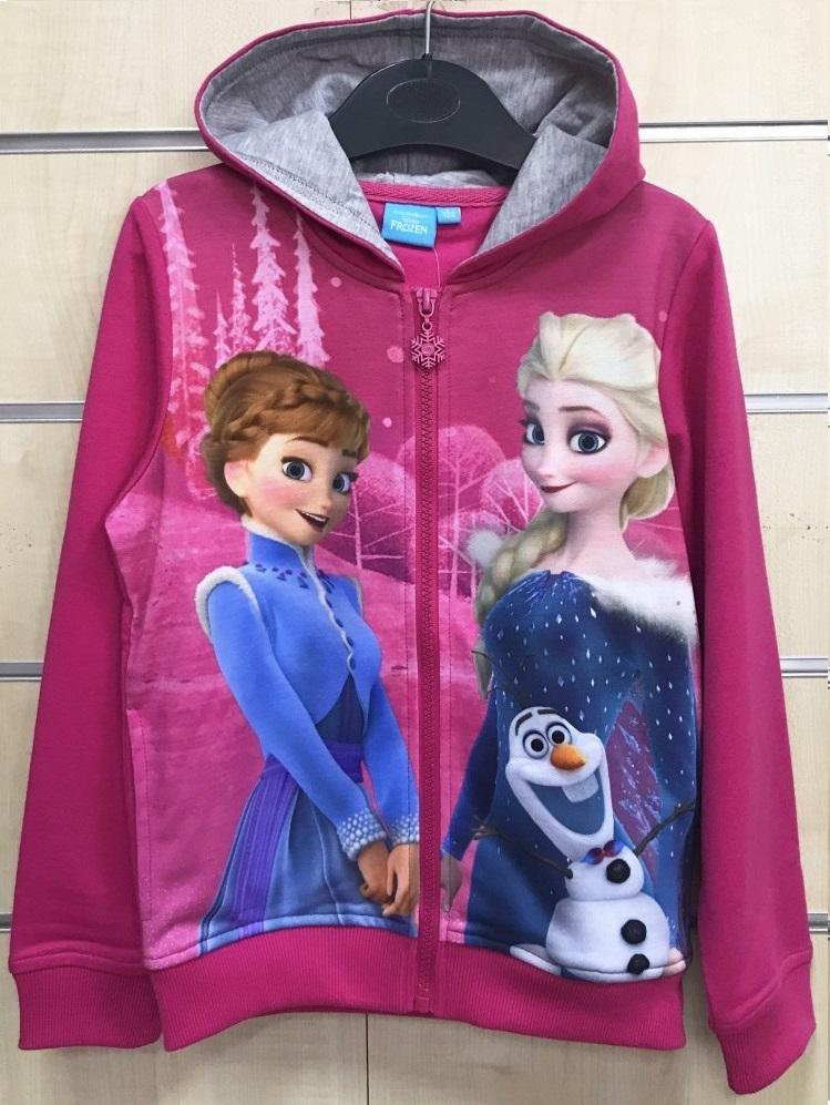 Disney Frost Huvtröja Rosa Hoodie Luvtröja Frozen strl 128