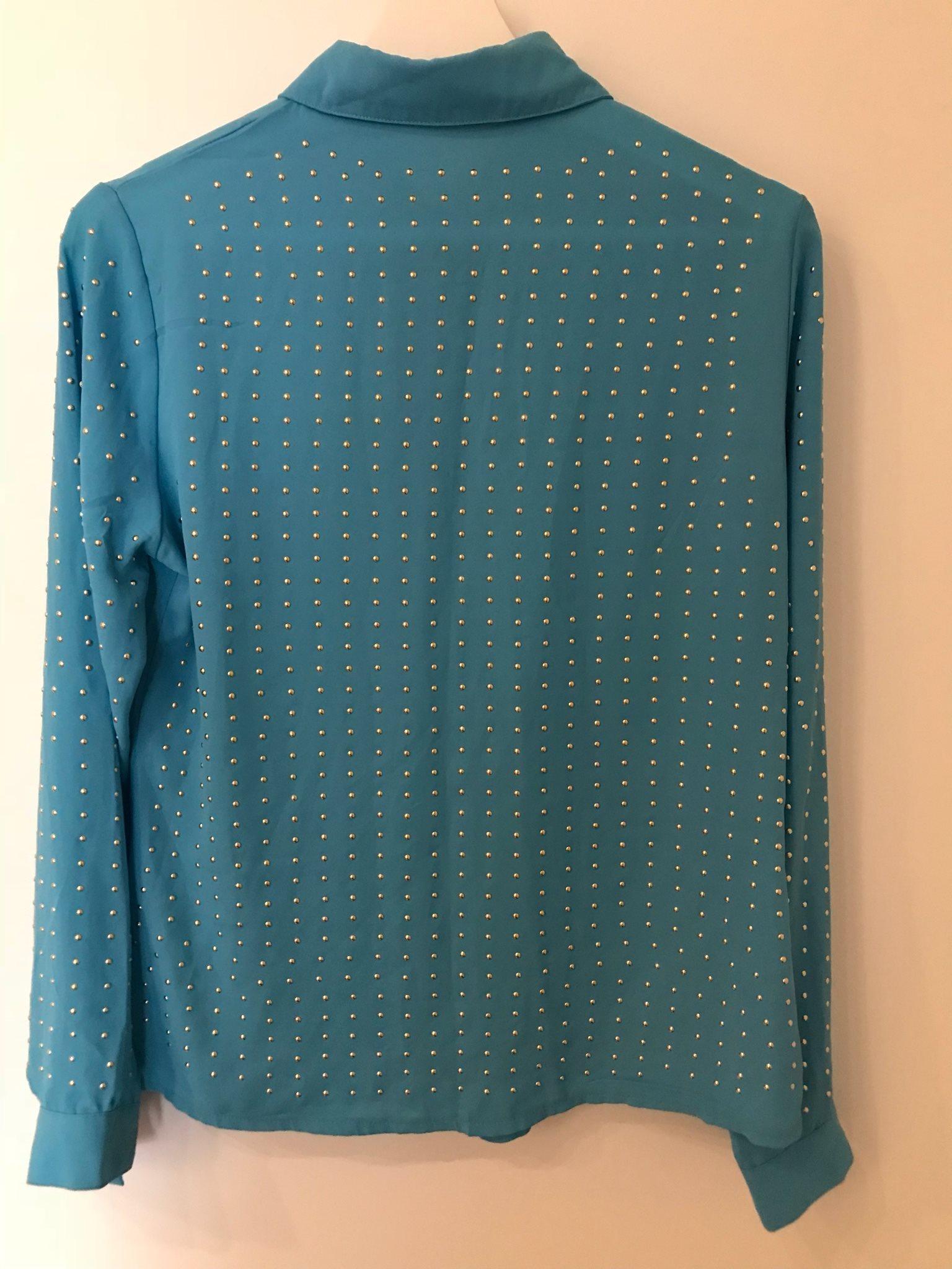Mjuk skön blus dam kläder topp skjorta nitar lå.. (338102081) ᐈ Köp ... ca39665da03a2