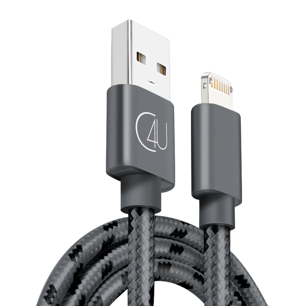2m C4U 2i1 laddkabel 2.4A IOS & Micro Usb PS4 Xbox iPhone X 8