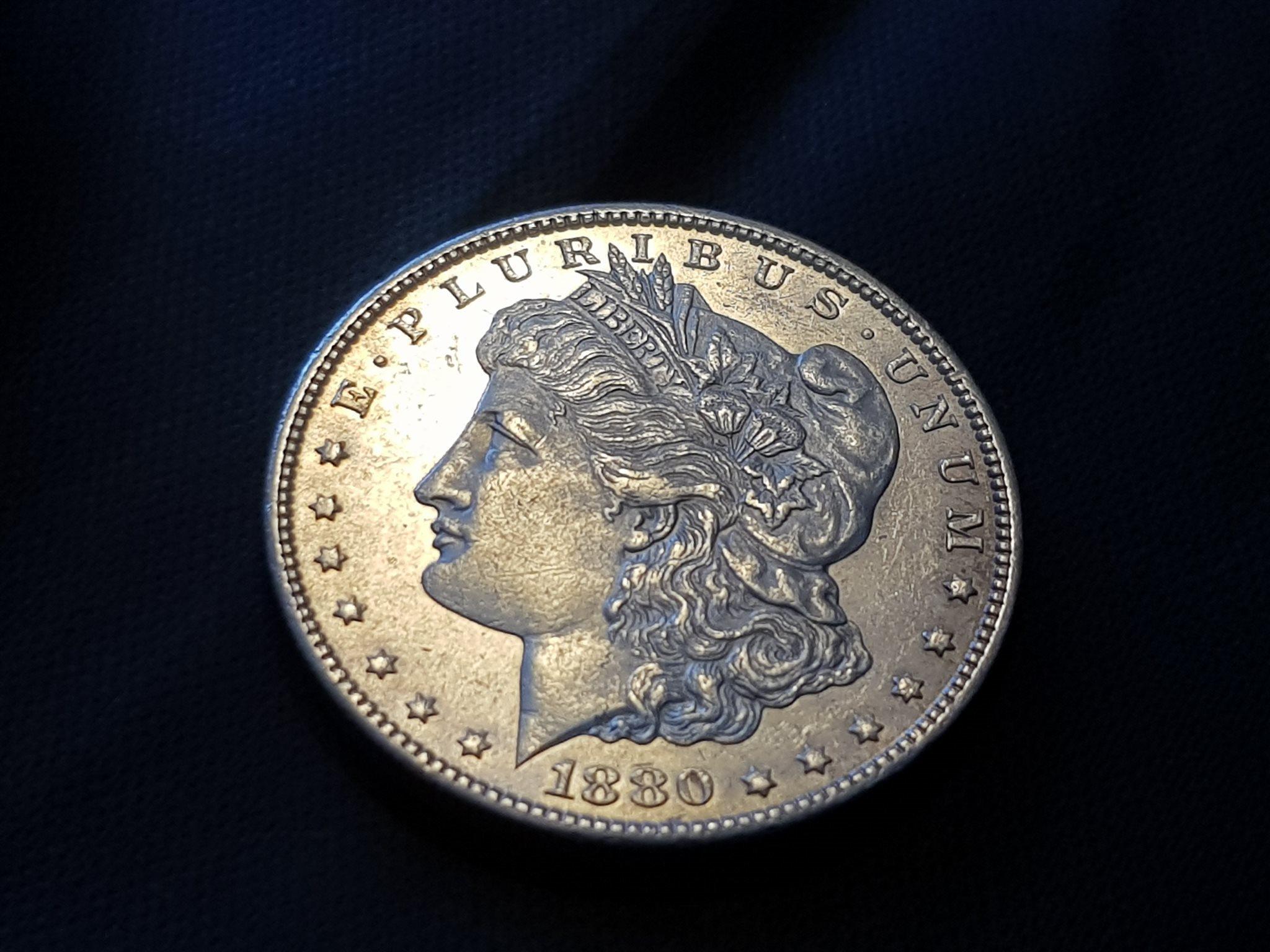 1880 S - S Morgan Dollar PL,1880-S VAM-11, Doub   (336013079) ᐈ Köp