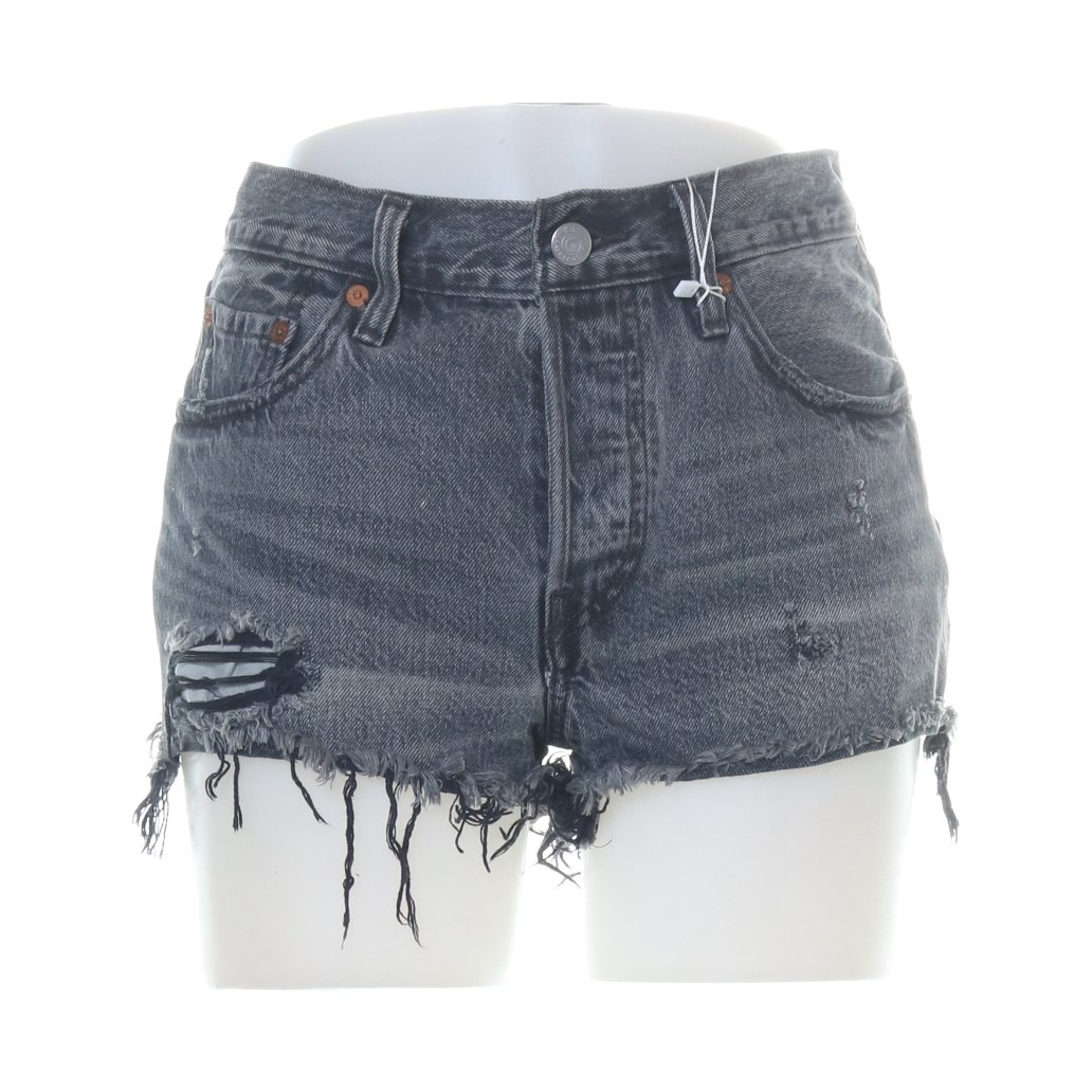Levi Strauss & Co, Jeansshorts, Strl: XS/S, 501, Grå, Bomull