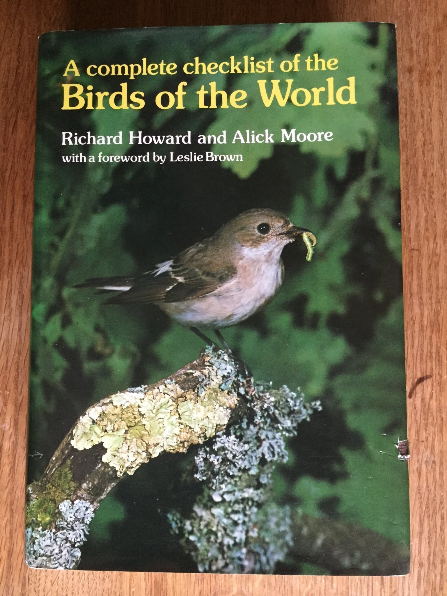 A complete checklist of the Birds of the World
