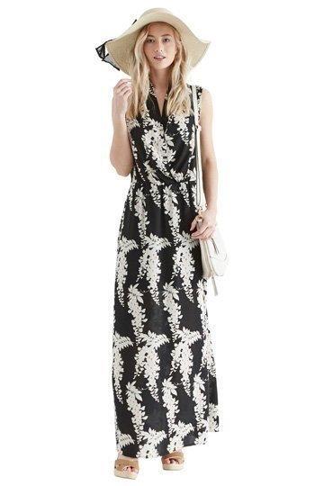 Svart mönstrad maxi klänning från Oasis. Nyskic.. (382645844